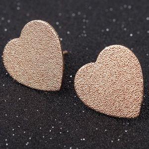 Jewelry - Gold Filled Heart Stud Earrings